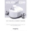 Magimix Gelato 2000 and  2200 Instruction and Recipe Book