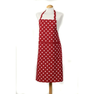 C`est a! Belle Apron - Red Classic Design 100% Cotton