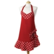 C`est a! Belle Apron - Red With Red Bow - 100% Cotton