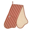 C`est �a! Butcher Stripe Double Oven Glove - Red