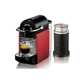 magimix nespresso pixie red with milk frother m110. Black Bedroom Furniture Sets. Home Design Ideas