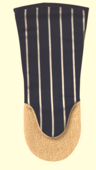 Oven glove, gauntlets from Butchers stripe.