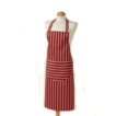 Butcher Stripe Apron Red 100% Cotton, Made in UK