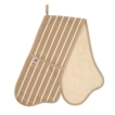 C`est  a! Butcher Stripe Double Oven Glove - Taupe