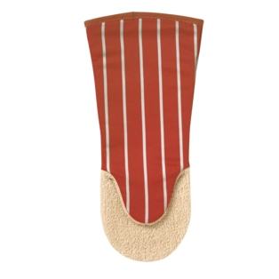 British Textile Co Red Stripe Oven Gauntlet - Red 822022