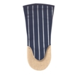 Butcher Stripe Oven Gauntlet Navy, Long. Made in UK