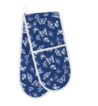 Freya Oven Gloves, Blue With Butterfly Design 100% Cotton
