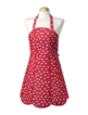 Apron Red Star Design 100% Cotton, Made in UK