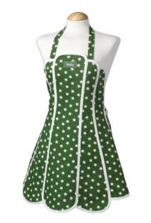Willow Star Green Apron 100% Cotton, Made in UK