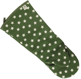 Green Star Oven Gauntlet 100% Cotton, Made in UK