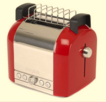 Magimix Toaster 2 Slice Red Side's & Polished Middle 11503