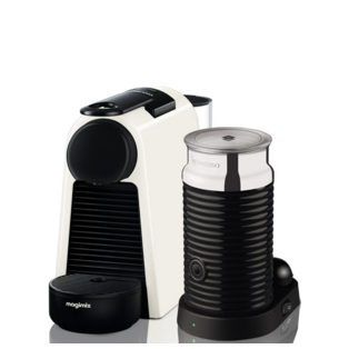 Magimix Essenza Pure White Coffee Maker & Milk Frother