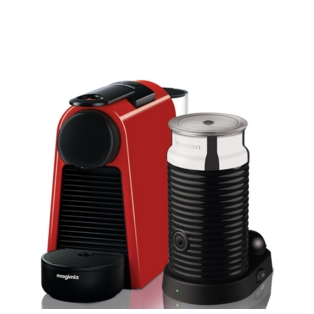 Magimix Essenza Ruby Red Coffee Maker & Milk Frother