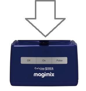 Magimix 5200xl Top Case Blue 18537 18566