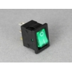Nemox ON/OFF Mini Rocker Switch Illuminated Green Lens
