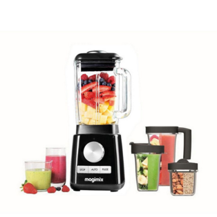 Magimix Blender Premium 11631 Black, Spice Mill Blend Cups
