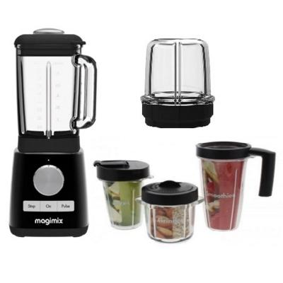 Magimix Blender Premium 11631 Black, Spice Mill Blend Cups
