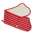 Butcher Stripe Double Oven Gloves Red Made in UK